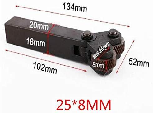No Logo Rändelfräswerkzeuge Doppelrad Knurling 1.8mm Rad Linear Pitch Knurling in Lathe Rändelwerkzeug Knurl for Lathe Lathe Gears Hob für Metalldrehmaschine