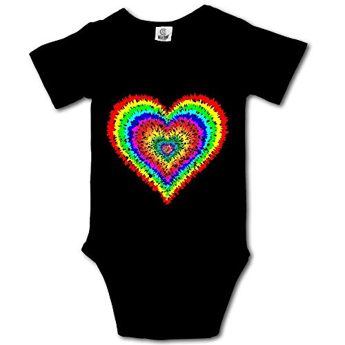 (Tye Dye Heart Baby Girls' Comfortable 100% Cotton)