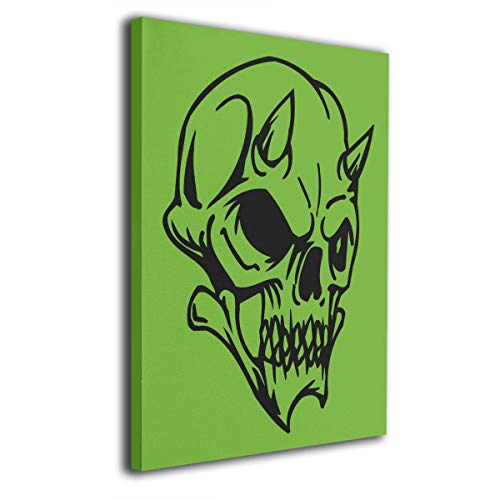 Hateone Halloween Skull Pattern Colorful 16 X 20 Inch Unframed Decorative Painting Canvas Wall Art Hanging Picture Artwork Wall Decoration for Living Room Bedroom Home Decor]()