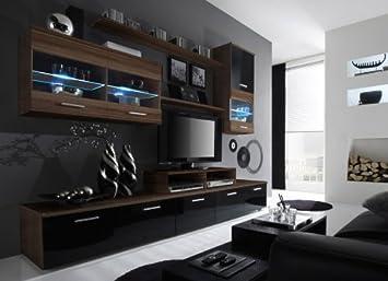 alpha ensemble de salle manger laqu paquet divertissement meuble mural avec support tv