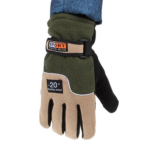 Franterd Mens Winter Windproof Motorcycle Ski Gloves (Green) by Franterd (Image #3)