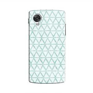 Cover It Up - Triangle Print Blue Nexus 5 Hard Case
