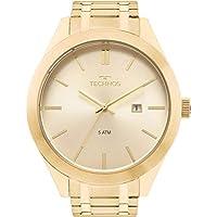 Relógio Technos Masculino Ref: 2115mnp/1d Casual Dourado