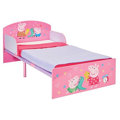 Peppa Pig Hello Home Cama Infantil, Madera, Rosa, 42 50x77 00x143 00 cm