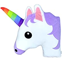 "Monqiqi Unicorn Throw Pillow, 14"" Emoji Plush Pillow for Couch, Home Decorations and Birthday Party Supplies Favors, Unicorn Shape"