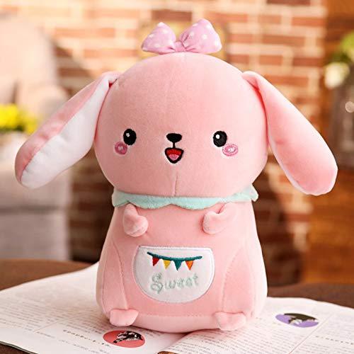 DONGER Weiche Süße Super-Kaninchen Spielzeugpuppe Weiße Kaninchen Lop Kaninchen Mädchen Puppe Schlafen Mädchen Kaninchen Puppe, Rosa Kaninchen, 60 cm, Daunen Baumwolle Halten 5dd614