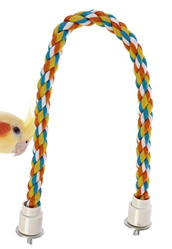 Bonka Bird Toys R18 Parrot Rope Perch Dia3/4