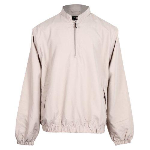 Tres Bien Golf Men's 2 in 1 Wind Breaker Jacket / Vest-Khaki-Large