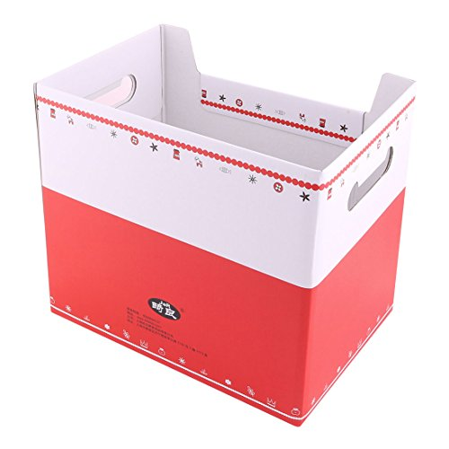 uxcell Paper Girl Pattern School Office Rectangular DIY File Documents Book Holder Storage Box by uxcell (Image #2)