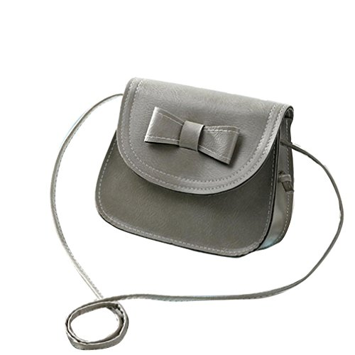 Hand Zipper Leather Clamshell Shoulder Bags Women Bag Bag Handbags Crossbody amp; Buckle Bow Grey Transer® Card Artificial Handbag Girls Black Ladies Holder Bag knot Shoulder qHf87a