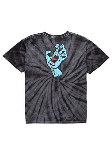 Santa Cruz Big Boys' Screaming Hand Shirts,Medium,Spider Black -