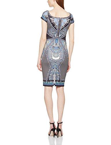 barbarella Damen Kleid, Casual 103594, Blau, S