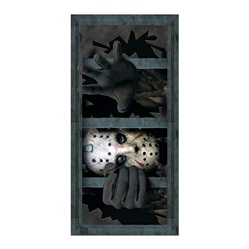Jason Scary Window Wall Decal Decoration -