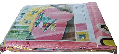 Sandyshow 2pc Owl Bedding For Children Twin Microfiber