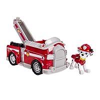 Camión, vehículo y figura de lucha contra incendios de Paw Patrol Marshall