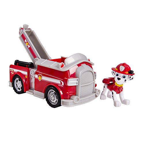 Paw Patrol Marshall's Fire Fightin' Truck/Rescue Marshall (works with Paw Patroller)(Packaging Title (About A Boy Characters)