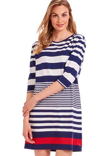 Charlie Paige Red, White, Blue, Nautical Stripe Dress (Large)