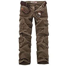 Myncoo Men's Cargo Pants Relaxed Fit Solid & Camo