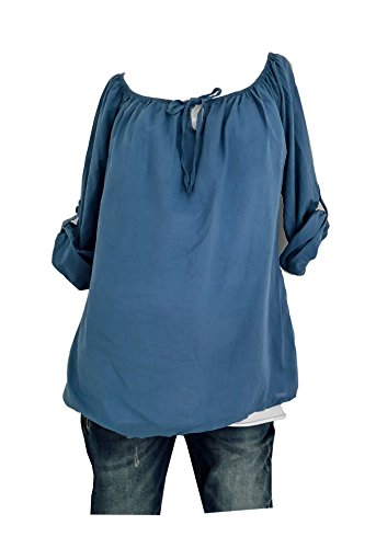 Trends für Dich - Camisas - Básico - para mujer azul vaquero