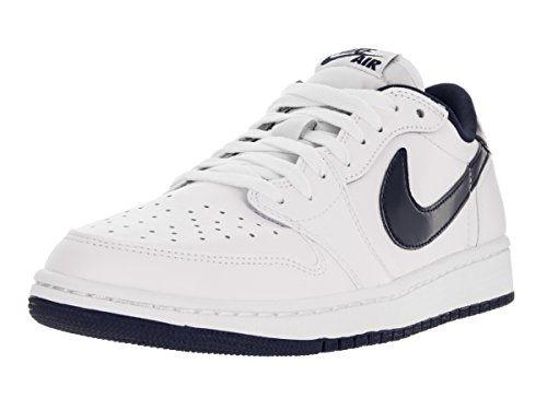 Jordan Air Midnight Sportive Uomo Retro Navy Nike 1 Scarpe Low White Og a1vUxwdq5