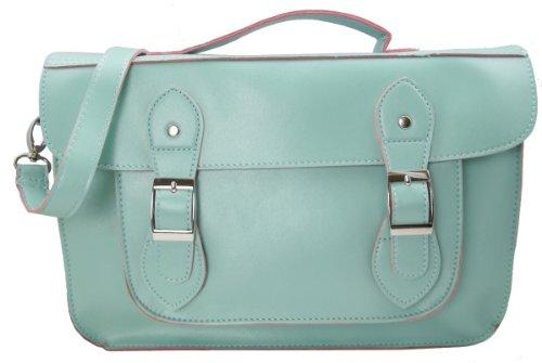 UKFS Collection - Bolso estilo cartera para mujer - Light Blue Faux Leather