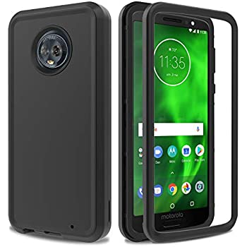 Moto G6 Plus Case AMENQ 3 in 1 Hybrid Heavy Duty Shockproof with Rugged Hard PC and TPU Bumper Protective Armor Phone Cover for Motorola Moto G Plus ...