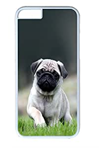 Iphone 6 Plus Case, Cute Little Pug Design PC Black Case for Iphone6 Plus 5.5inch