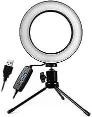 Iluminador Ring Light 16Cm Maquiagem Selfie Gravação Vídeo