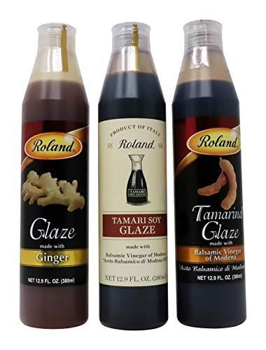 (Roland Foods Ginger Glaze, Tamari Soy, Tamarind Glaze, Meat Marinades 3 Pack)