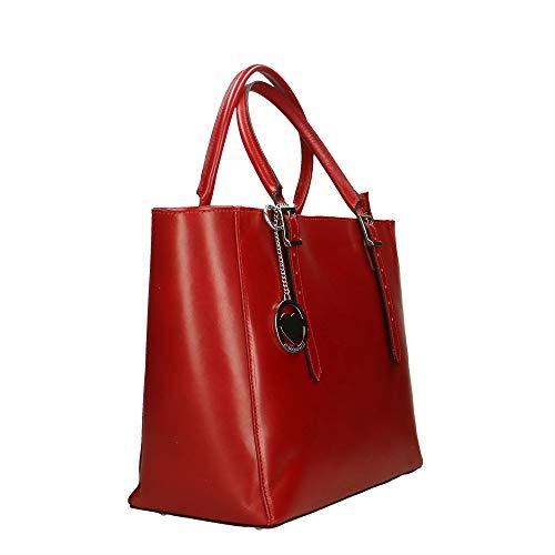 De Piel In Made Chicca Bolsa Italy Cm Rojo Mano Genuina En Borse 40x28x18 qwnZBEOA