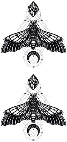 Yangll Impermeable Falso Tatuaje Temporal Pegatinas Geométricas ...