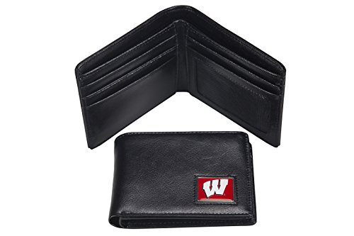Wisconsin Badgers Black Leather - 9