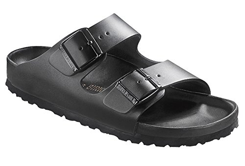 Birkenstock Womens Monterey Sandal Exquisite Black Leather Size 38 N EU (7-7.5 N US Women)