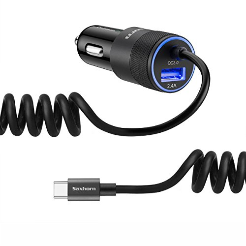 Car Charger for Samsung Galaxy S9/S9 Plus/S8/S8 Plus, LG G6/G5, HTC 10 with 3.3ft USB Type C Cord