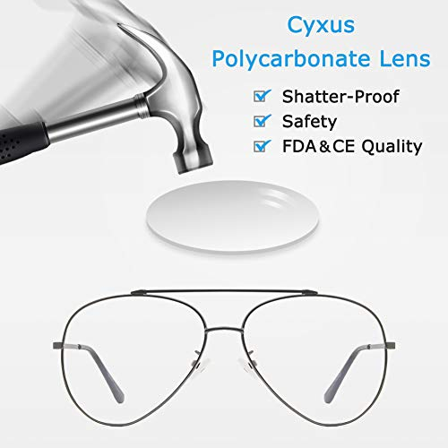 e331bf3573 Cyxus Blue Light UV Blocking Computer Glasses