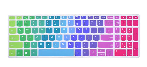 CaseBuy Keyboard Cover Compatible Lenovo IdeaPad 320/330/330s 15.6 inch, IdeaPad 320/330 17.3 inch, IdeaPad 520 15.6 inch Laptop Ultra Thin Anti Dust Keyboard Protector Skin, Rainbow