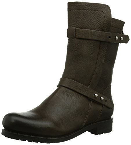 Blackstone HIGH ZIPPERBOOT FUR - Botas Chukka de cuero mujer Gull