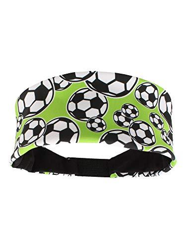 MadSportsStuff Crazy Soccer Headband with Soccer Ball Logos