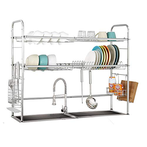 PremiumRacks Professional Over The Sink Dish Rack - Fully