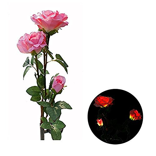 Rose Flower Solar Lights , Elstey Solar Powered Outdoor Waterproof Garden Lawn Balcony LED Lamps Landscape Decorative Illumination