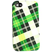 Cell Armor  Hybrid Jelly Case for iPhone 4/4S - Retail Packaging - Green Plaid