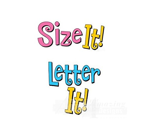 Amazing Designs LETTER IT! & SIZE IT! Embroidery Machine Software Combo & Stabilizer Bundle (Embroidery Designs Letters Fonts)