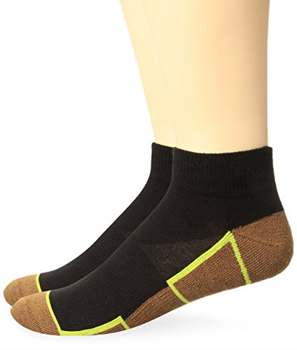 Copper Sole Mens 2 Pack Athletic Ankle Socks