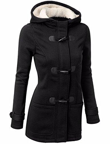 Femmes Chaud La New Doux Hiver Coton Veste Hoodies Blazer A Capuche Noir Chemises Yan1xwqCx