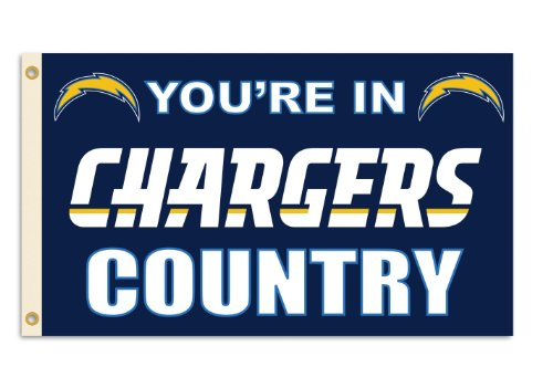 "NFL Los Angeles Chargers 3-by-5 Foot ""In Country"" Flag"