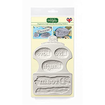 Dream Driftwood And Word Stones Silicone Mould For Cake Decorating