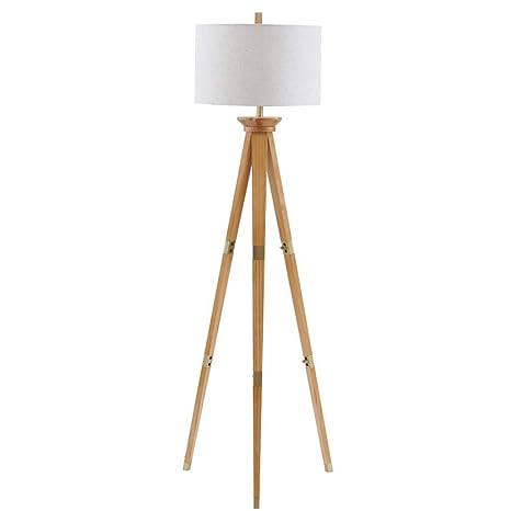 Lámpara de mesa piso de la sala Sólido alta mesa de madera ...