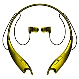 Mpow Jaws Gen-3 Bluetooth Headphones Wireless Neckband Headphones W/13H Playtime & CVC 6.0 Noise Cancelling Mic, Wireless Neckband Headset W/Call Vibrate Alert, Bluetooth Magnetic Earphones, Gold