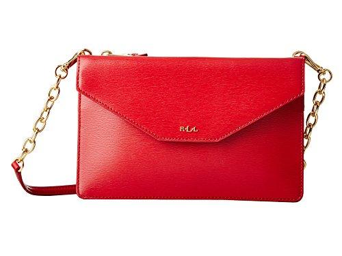 LAUREN Ralph Lauren Women's Newbury Erika Small Crossbody Red One Size (Lauren Ralph Lauren Tate Patent Leather Crossbody)