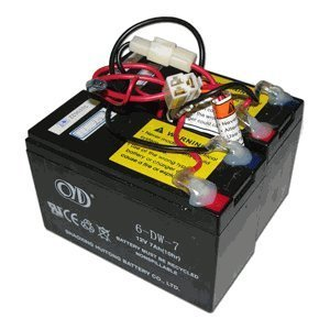 Razor E200 / E300 24 Volt 7 Ah Replacement Electric Scooter Battery Pack (Dual 12 Volt 7Ah) - Includes Wiring Harness